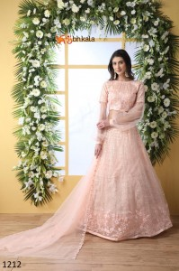 SHUBHKALA BRIDESMAID VOL 3 NET INNOVATIVE STYLE LEHENGA CHOLI WHOLESALE CATALOGUE