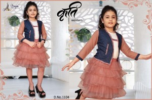 ADM PRESENTS KRUTI WESTERN BABY FROCK KIDS WEAR COLLECTION WHOLESALE CATALOGUE