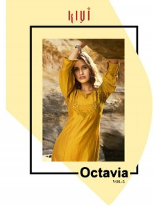 KALAROOP KAJREE PRESENTS OCTAVIA VOL 5 LINING SILK WITH FANCY HANDWORK KURTIS WHOLESALE CATALOGUE