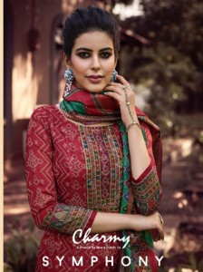 MEERA TRENDZ LLP SYMPHONY MODAL CHANDERI SILK CLASSIC TRENDY LOOK SALWAR SUIT WHOLESALE CATALOGUE