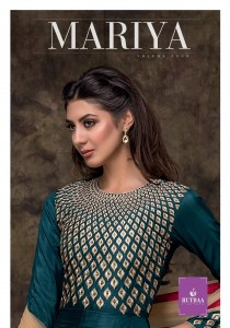 TZU MARIYA MYSORE SILK FESTIVE LOOK KURTI BOTTOM WITH DUPATTA WHOLESALE CATALOGUE