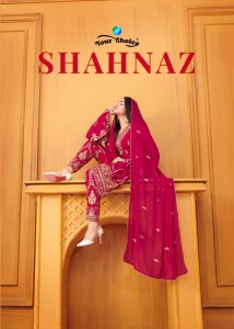 YOUR CHOICE LAUNCHED SHAHNAZ BLOOMING GEORGETTE WITH HEAVY EMBROIDERY PAKISTANI SUITS AT WHOLESALE RATE