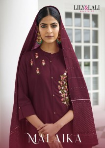 LILY AND LALI LAUNCH MALAIKA SILK WITH HANDWORK READYMADE SALWAR SUIT WHOLESALE CATALOGUE AT BEST RATE