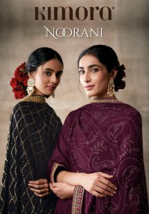 KIMORA PRESENTS NOORANI CHINON CHIFFON WITH WORK HEAVY WEDDING AND PARTY WEAR SUITS