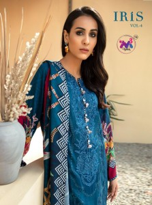 M3 FASHION IRIS VOL 4 JAM COTTON PRINT PAKISTANI CATALOGS SUITS NEW DESIGN OF 2021 EXPORTER