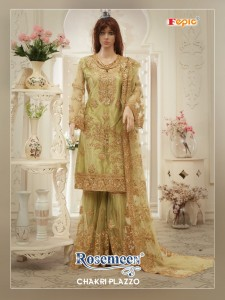 FEPIC ROSEMEEN CHAKRI PLAZZO BUTTERFLY NET SALWAR SUIT CATALOGUE WHOLESALE PRICE