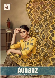 ALOK SUIT AVNAAZ PURE JAM DIGITAL FOIL PRINT WITH NEACK EMBROIDERY WORK SALWAR SUITS WHOLESALE CATALOGUE