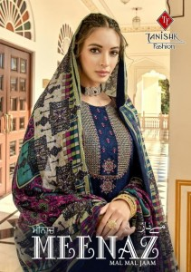 TANISHK FASHION MEENAZ JAM SILK WITH KASHMIRI EMBROIDERY WORK SALWAR SUITS WHOLESALE CATALOGUE