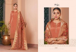 LT FABRICS NITYA VOL 163 NATURAL CRAPE WITH SWAROVSKI WORK DRESS MATERIALS WHOLESALE CATALOGUE