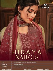 HANSA HIDAYA NARGIS PASHMINA DIGITAL PRINT WITH HANDWORK SALWAR KAMEEZ WHOLESALE CATALOGUE