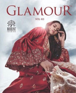 MOHINI FASHION GLAMOUR VOL 83 NET WITH HEAVY EMBROIDERY WORK PAKISTANI SUITS WHOLESALE CATALOGUE