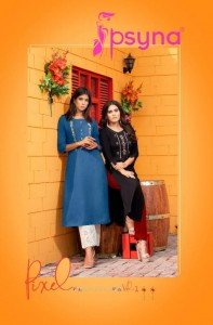 PSYNA PIXEL RAYON ATTRECTIVE COLOURS KURTI WHOLESALE CATALOGUE