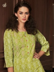 TZU REHANA COTTON AUTHENTIC FABRIC KURTI WITH PLAZZO WHOLESALE CATALOGUE