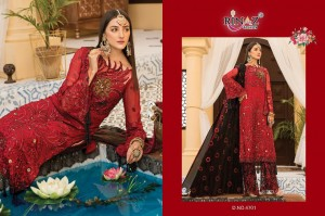 RINAZ FASHION MARYAM'S GOLD VOL 7 FOX GEORGETTE WITH HEAVY EMBROIDERY WORK PAKISTANI SUITS WHOLESALE CATALOGUE
