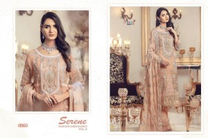 SHREE FABS SERENE PREMIUM EMBROIDERED VOL 4 GEORGETTE WITH HEAVY EMBROIDERY WORK PAKISTANI SUITS WHOLESALE CATALOGUE