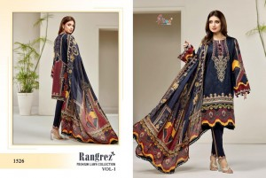SHREE FABS RANGREZ PREMIUM LAWN COLLECTION VOL 1 PURE LAWN PRINT WITH EMBROIDERY PAKISTANI SUITS WHOLESALE CATALOGUE
