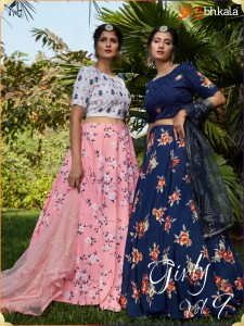 SHUBHKALA GIRLY VOL 9 DESIGNER FANCY LEHENGA CHOLI WHOLESALE CATALOGUE