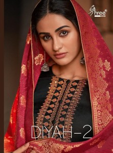 SHREE FABS DIYAH 2 TUSSAR SILK INNOVATIVE STYLE SLWAR SUIT WHOLESALE CATALOGUE