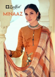ZULFAT DESIGNER SUITS MINAAZ HEAVY JAM COTTON DIGITAL PRINT SALWAR SUITS WHOLESALE CATALOGUE