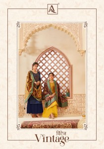 ALOK SUIT VINTAGE PURE JAAM DAYED WITH KASHMIRI SWAROVSKI EMBROIDERY WORK SALWAR SUITS WHOLESALE CATALOGUE