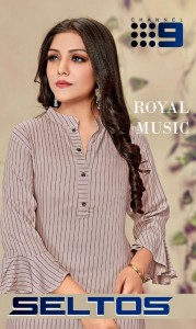 CHANNEL 9 SELTOS RAYON DECENT LOOK KURTI WITH PANT WHOLESALE CATALOGUE