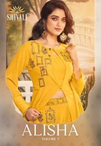 SHIVALI ALISHA VOL 7 FANCY ASTONISHING STYLISH KURTI WITH PANT WHOLESALE CATALOGUE