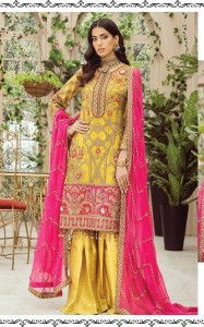 RAMSHA R-273 R-274 R-275 R-276 GEORGETTE EMBROIDERY PAKISTANI SUITS CATALOGUE AT WHOLESALE RATE