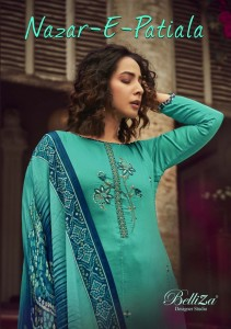 BELLIZA DESIGNER STUDIO NAZAR E PATIYALA VOL 6 HEAVY JAM COTTON WITH KASHMIRI EMBROIDERY WORK SALWAR SUITS CATALOGUE AT WHOLESALE RATE