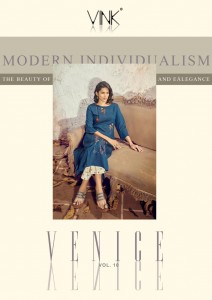 VINK VENICE VOL 10 VISCOSE NEW AND MODERN STYLE KURTI WITH PANTS CATALOGUE AT WHOLESALE RATE