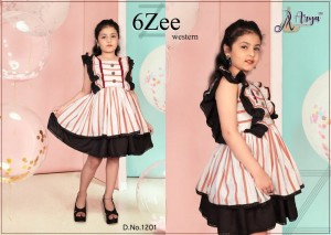 ADM 6 ZEE WESTERN COTTON FANCY FROCK KIDS COLLECTION CATALOGUE AT WHOLESALE RATE