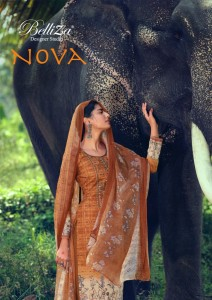 BELLIZA DESIGNER STUDIO NOVA PREMIUM COTTON PTINT WITH FANCY EMBROIDERY WORK SALWAR SUITS CATALOGUE AT WHOLESALE RATE