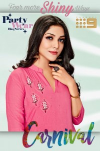 CHANNEL 9 CARNIVAL MUSLIN CATCHY LOOK KURTI WITH PANT WHOLESALE CATALOGUE