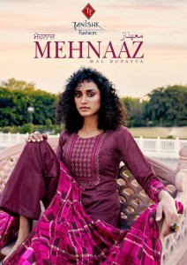 TANISHK FASHION MEHNAAZ PURE JAM COTTON WITH CROSS EMBROIDERY WORK SALWAR SUITS WHOLESALE CATALOGUE