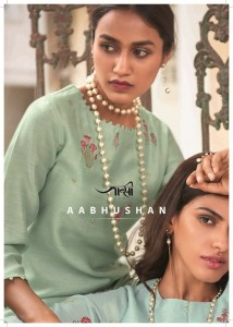 JANSI AABHUSHAN SILK DECENT EMBROIDARY LOOK KURTI WITH BOTTOM WHOLESALE CATALOGUE