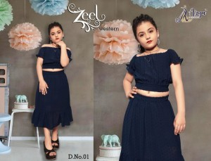 ADM ZEEL WESTERN FANCY TOP WITH SKIRTS KIDS COLLECTION WHOLESALE CATALOGUE