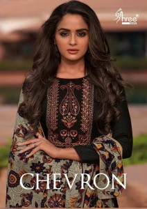 SHREE FABS CHEVRON JAM COTTON PRINT WITH EXCLUSIVE SELF EMBROIDERY WORK SALWAR SUITS WHOLESALE CATALOGUE