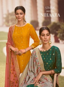 SIMAR GLOSSY NIHAARA VISCOSE DOLA JACQUARD WITH SWAROVSKI WORK SALWAR SUITS WHOLESALE CATALOGUE