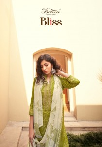 BELLIZA DESIGNER STUDIO BLISS JAM COTTON PRINT WITH FANCY EMBROIDERY WORK SALWAR SUITS WHOLESALE CATALOGUE