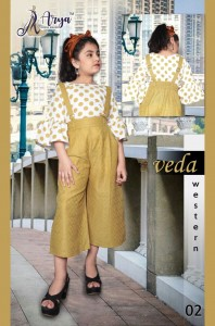 ADM VEDA WESTERN TOP WITH BOTTOM FANCY KIDS COLLECTION WHOLESALE CATALOGUE