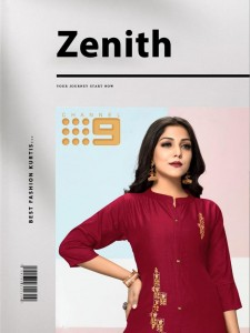 CHANNEL 9 ZENITH CHINON SILK WITH EMBROIDERY WORK FANCY REGULAR WEAR KURTIS AND PANTS WHOLESALE CATALOGUE