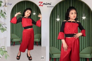 ADM ZMIMI WESTERN FANCY TOP WITH PANT KIDS COLLECTION AT WHOLESALE PRICE