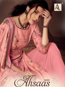 ALOK SUIT AHSAAS JAM COTTON GORGEOUS LOOK SALWAR SUITS CATALOGUE