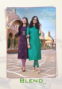 BANWERY BLEND VOL 6 HEAVY MAGIC COTTON WITH EMBROIDERY WORK KURTIS CATALOGUE