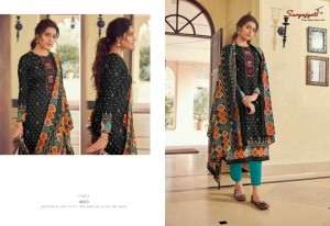SURYAJYOTI NOREEN VOL 4 SATIN COTTON WITH FINE WORK FORMAL WEAR DRESS MATERIAL SUITS CATALOGUE