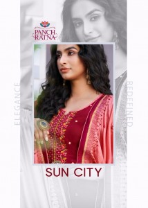 PANCH RATNA SUN CITY JAM SILK WITH EMBROIDERY WORK WEDDING WEAR SALWAR SUITS CATALOGUE