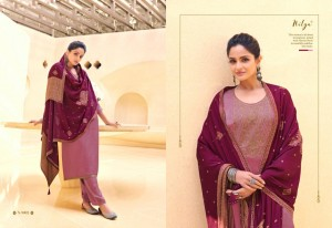 LT NITYA NAAZ SUPER SILK WITH EMBROIDERY WORK FORMAL WEAR SALWAR SUITS CATALOGUE