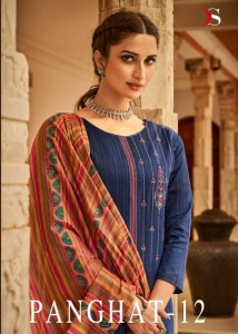 DEEPSY SUIT PANGHAT 12 JAM COTTON PRINT WITH HEAVY SELF EMBROIDERY WORK SALWAR SUITS CATALOGUE