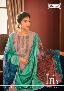 KESAR IRIS PURE JAM SILK DIGITAL PRINT WITH EMBROIDERY WORK SALWAR SUITS CATALOGUE
