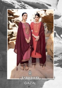 RANGOON GAZAL SILK ATTRACTIVE READYMADE SALWAR SUITS CATALOGUE