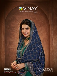 VINAY FASHION KASEESH SEASON MUSLIN SATIN REGAL LOOK SALWAR SUIT CATALOGUE